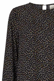 Piper Dress | Sort | Kjole med print fra Lollys Laundry