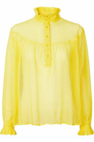 DELORA SHIRT | Yellow | Gul blonde skjorte fra LOLLYS LAUNDRY