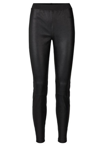 Sally Leather Leggings - Læderleggings fra Lolly's Laundry (sorte)