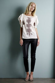 Sally Leather Leggings - Læderleggings fra Lolly's Laundry (sorte) -  Lollys Laundry - Lisen.dk