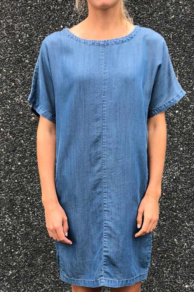 Mollo tunic pretty | Medium blå | Kjole fra Freequent