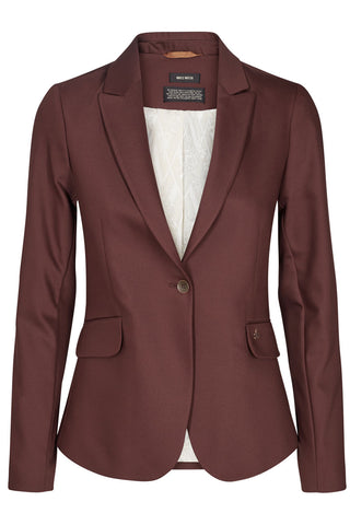 BLAKE NIGHT BLAZER | Chocolate | Brun Blazer fra MOS MOSH