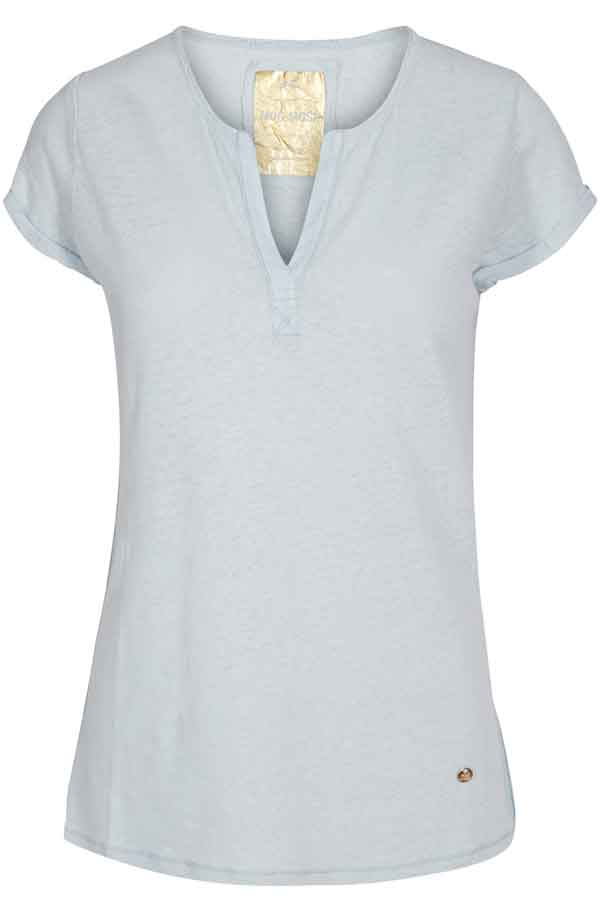TROY TEE | Light blue | Lyseblå basis T-shirt fra MOS MOSH