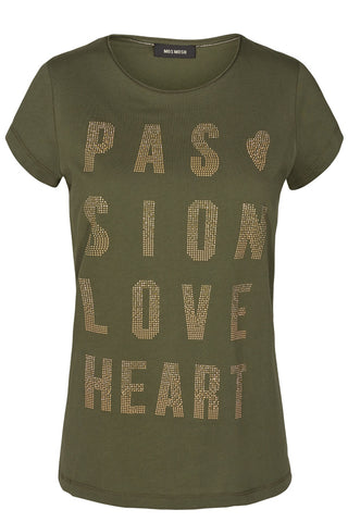 CRAVE RIVET TEE SS | Army | T-shirt fra MOS MOSH