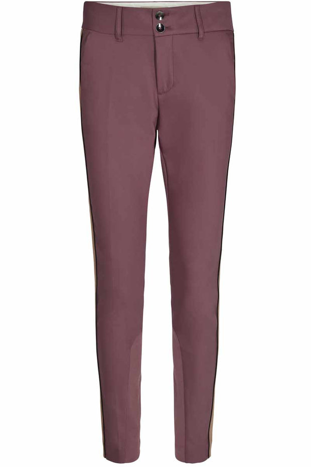 Blake club pant sustainable | Wild plum | Bukser med stribe fra Mos Mosh