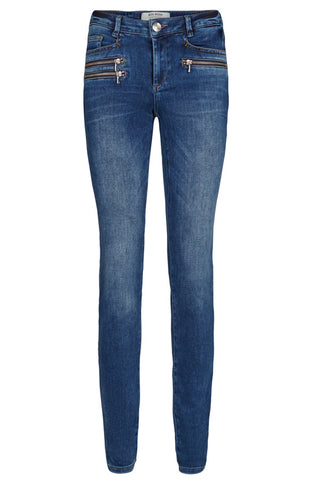 BERLIN ZIP JEANS | Blue denim | Jeans fra MOS MOSH