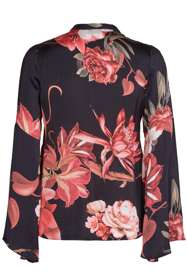 ARETHA SCALA BLOUSE | Blomstret bluse fra MOS MOSH