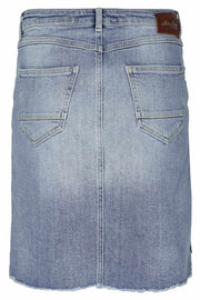 Valli see denim skirt | Light blue | Nederdel fra Mos Mosh