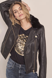 Camil Leather Jacket | Sort | Læderjakke fra Mos Mosh
