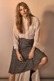 Alice York Skirt | Black Check | Nederdel med tern fra Mos Mosh