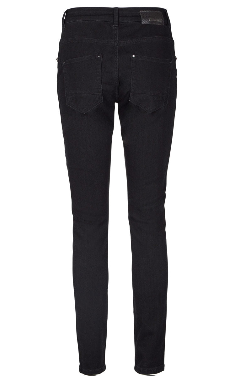 BRADFORD GLAM BLACK | Sort denim | Bukser fra MOS MOSH