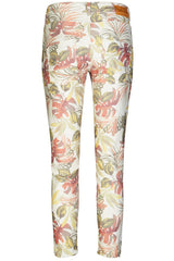 ETTA PRINTED 7/8 | Offwhite flower print | Blomstrede jeans fra MOS MOSH