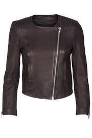 Meera Leather Jacket | Sort | Læder jakke fra Mos Mosh