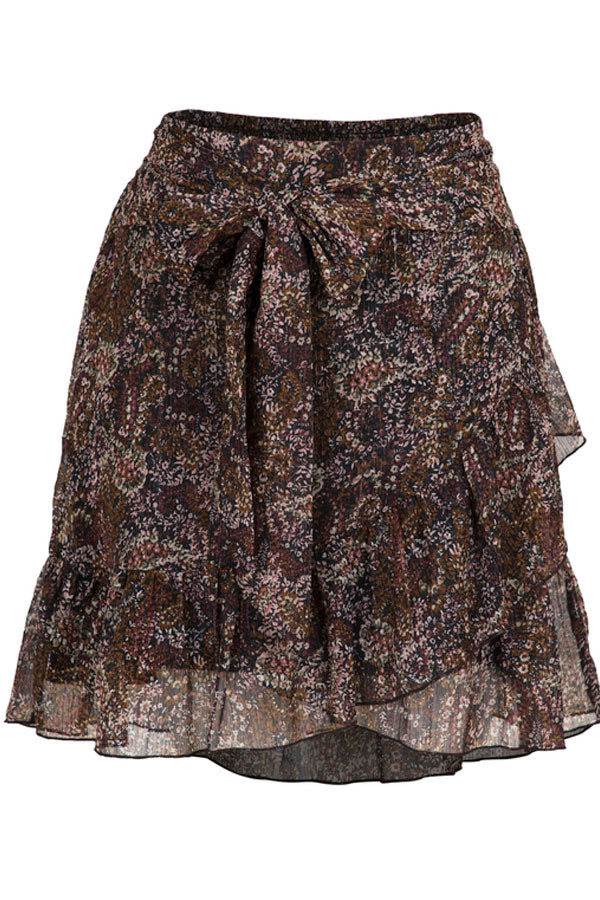Bella Winter Skirt | Winter garden black | Nederdel med print fra Neo Noir