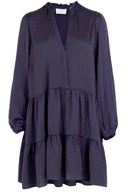 Federica Soft Dress | Dark Blue | Kjole fra Neo Noir