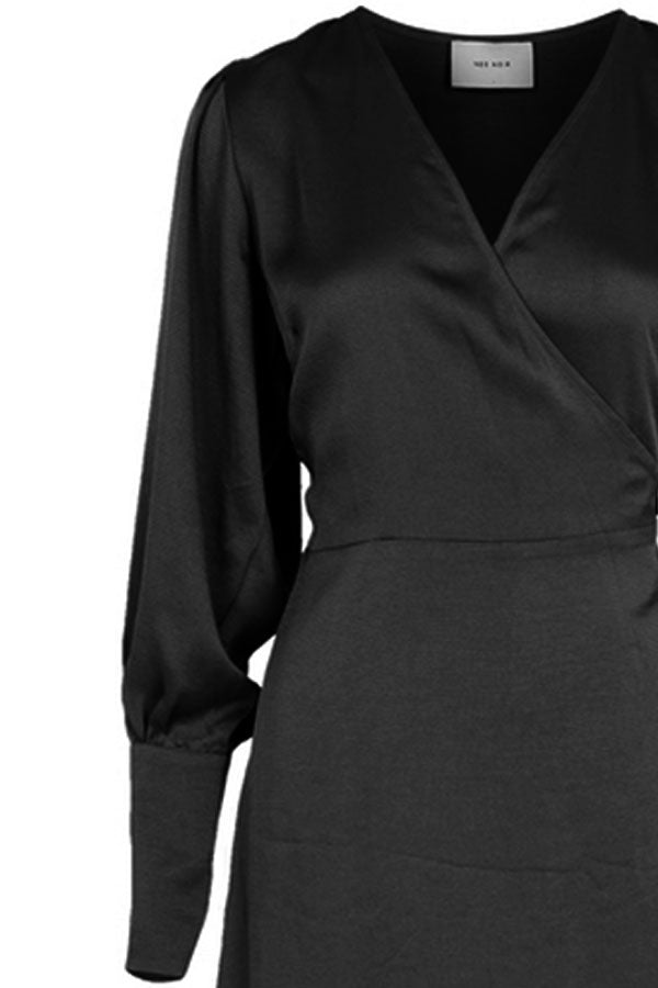 Asmara Dress | Sort | Slå-om kjole fra Neo Noir