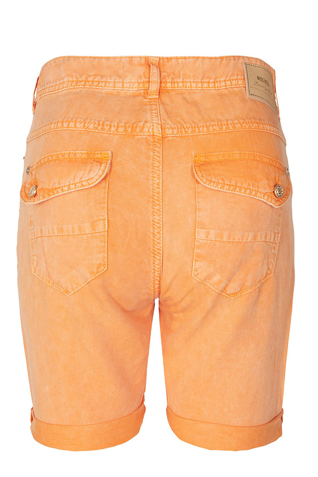 Nelly Block Shorts | Sun Orange | Shorts fra MOS MOSH