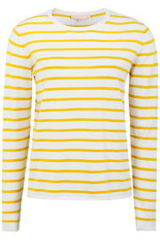SRMarla O-Neck Knit Stripe | Offwhite | Pullover med striber fra Soft Rebels