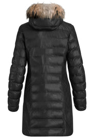 DEMI LEATHER | Sort | Læder frakke fra PARAJUMPERS