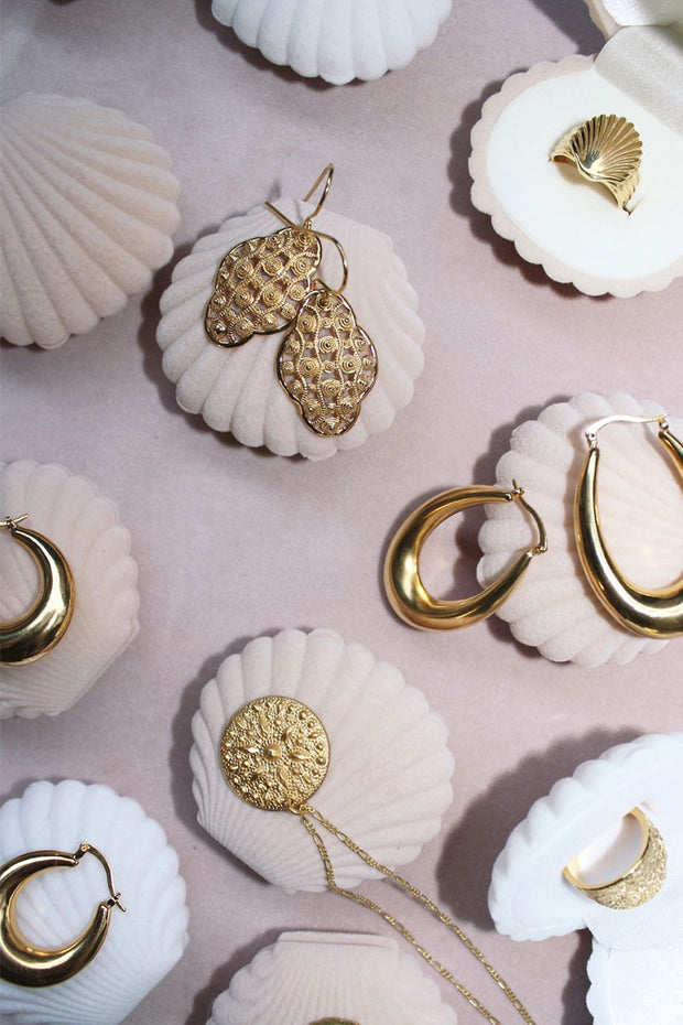 One size shell Ring | Guld | Ring fra Pico