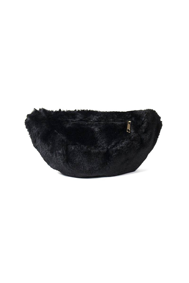 FLUFFY BAG | Sort | Lille plys crossover fra RE:DESIGNED