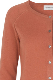 Cardigan LS | 1421 Copper Brown | Cardigan fra Rosemunde