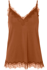 Strap Top | 4217 Copper Brown | Blondetop fra Rosemunde