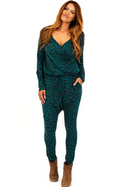 HEAT OF THE NIGHT LS | Grøn leo | Jumpsuit fra COMFY COPENHAGEN
