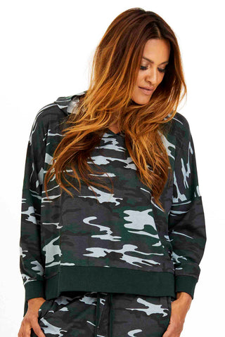 LOVE AND AFFECTION | Camo | Sweatshirt fra COMFY COPENHAGEN