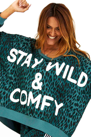 COME AS YOU ARE | Grøn leo | Sweatshirt fra COMFY COPENHAGEN