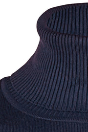 Roll Neck Sweater | M. Navy | Rullekrave fra Saint Tropez