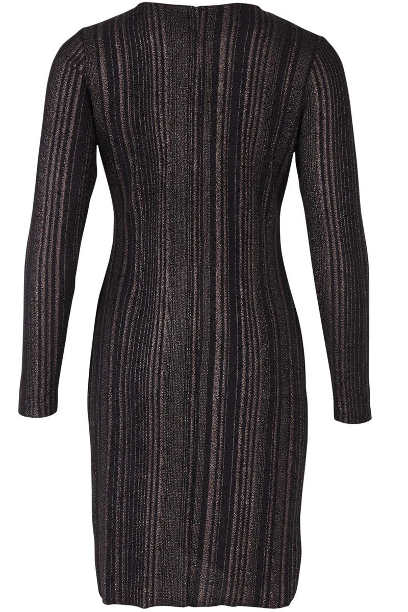 STRIPED METALLIC DRESS | Sort | Kjole med glimmer fra SAINT TROPEZ