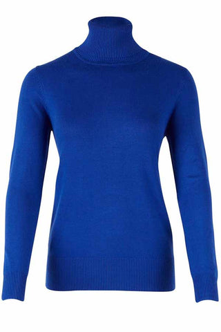 ROLL NECK SWEATER | Blå | Rullekrave sweater fra SAINT TROPEZ
