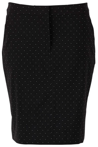 PENCIL SKIRT WITH TINY DOT | Sort | Nederdel med lommer fra SAINT TROPEZ