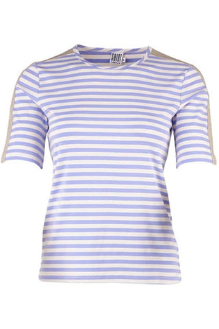 STRIPED TEE | Blå | Stribet t-shirt med lurex fra SAINT TROPEZ