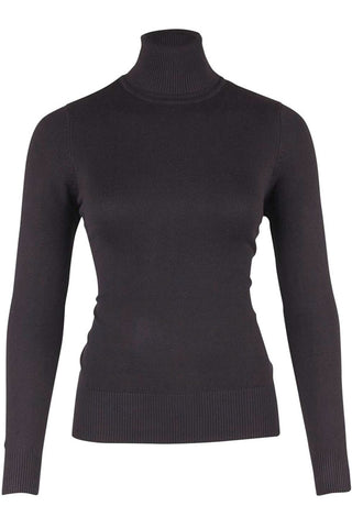 ROLL NECK SWEATER | Sort | Rullekrave sweater fra SAINT TROPEZ