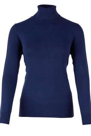 ROLL NECK SWEATER | Mørkeblå | Rullekrave sweater fra SAINT TROPEZ