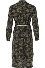 WOVEN DRESS BELOW KNEE | Army | Kjole fra SAINT TROPEZ