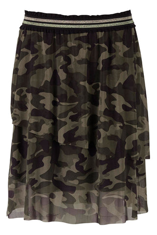 WOVEN SKIRT BELOW KNEE | Army | Nederdel fra SAINT TROPEZ