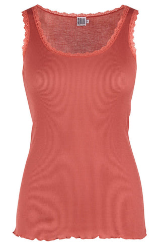 RIB TANK | Rose | Tank top med blonde fra SAINT TROPEZ