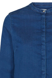 Mattie Denim Shirt | Blue | Skjorte fra Mos Mosh