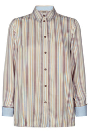 Jodie River Shirt | Light Blue Stripe | Skjorte fra Mos Mosh