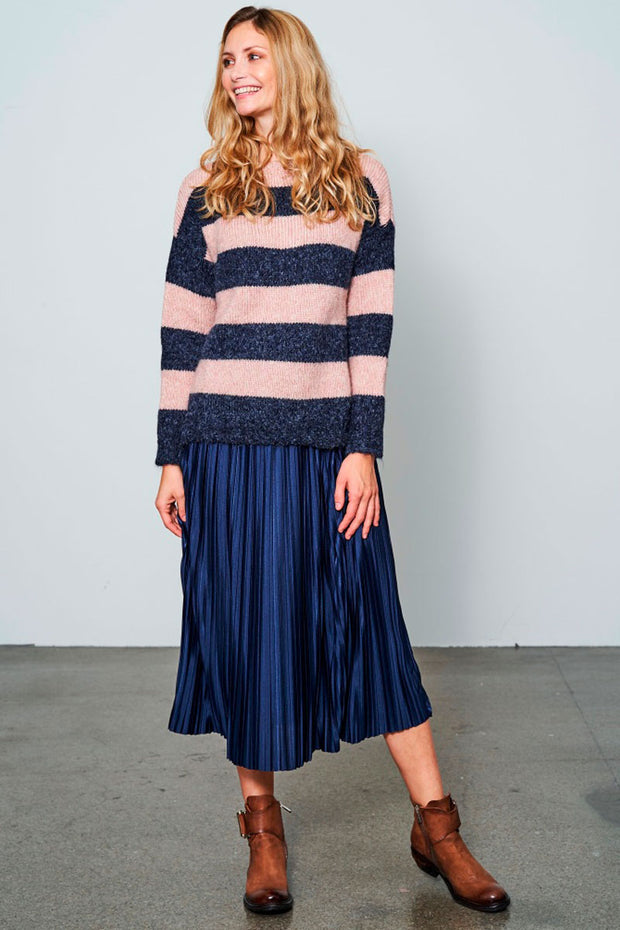 Crazy About You | Navy / Rose | Uld strik fra Comfy Copenhagen