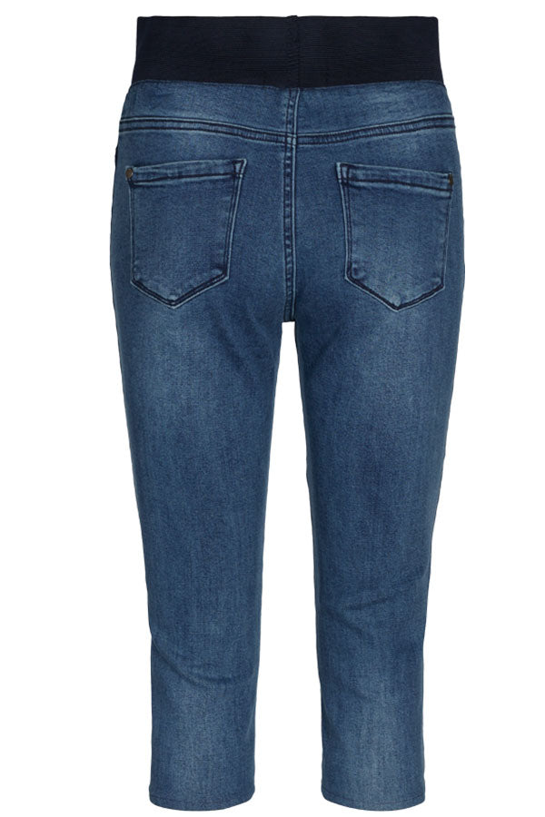 Shantal Ca Denim | Medium Blue Denim | Capri bukser fra Freequent