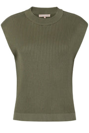 SRJasmin Vest Knit | Dark Olive | Strikvest fra Soft Rebels