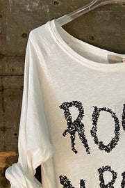 CRETA ROCK N ROLL | White | T-shirt fra Cabana Living