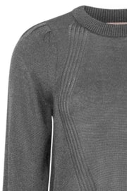SRGloria LS O-neck Knit | Asphalt | Strik fra Soft Rebels