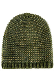Dina Knitted Hat w/Lurex | Army | Hue fra Black Colour