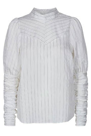 Dina Puff Stripe Shirt | Off White | Skjorte fra Co'Couture