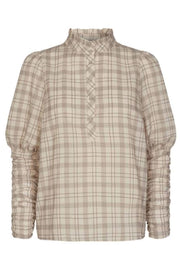 Rowland Check Shirt | Marzipan | Bluse fra Co'couture